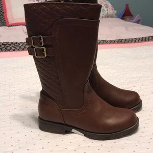 NIB STRIDE RITE Black Riding Boots Valerie 8.5 9.5 W